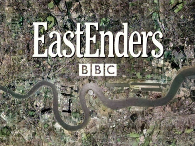 screen grab of the EastEnders opening titles